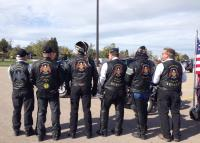 The guys showing off their American Legion Rider vests.