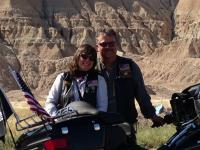 Fred and Micheline Nelson enjoying a picture time break in the Badlands of South Dakota.