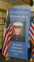 One of 35 banners that were set up to honor our South Dakota killed in action (KIA) since 9/11.