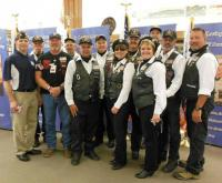 Black Hills Chapter participants with Post 164 Commander Mitch Mechaley.