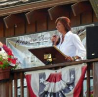 Christine (Jensen) Bestgen, a Gold Star Mother from the Black Hills taking part in the ceremony.