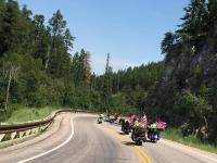 A great group of people riding to support veteran scholarships at Black Hills State University.